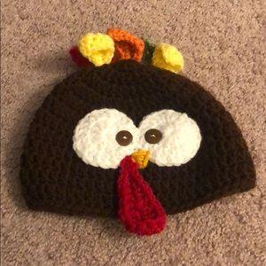 Baby 0-12 months thanksgiving turkey beanie hat